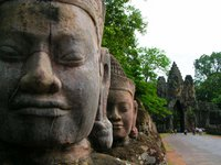 Angkor Thom bei Siem Reap in Kambodscha in Indochina Asien