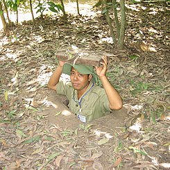 Cu Chi Tunnel Vietnam nahe Ho Chi Minh City beeindruckendes Tunnelsystem