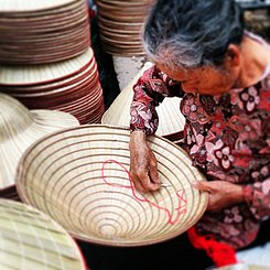 traditionelles Handwerk Vietnam Asien Indochina